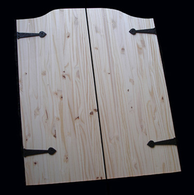 Knotty Pine with Iron Accents